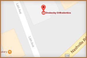 Bowling Green Map at Drobocky Orthodontics in Bowling Green Glasgow Franklin KY